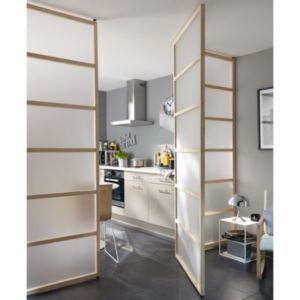 kit pivotant pour cloison amovible castorama. Black Bedroom Furniture Sets. Home Design Ideas