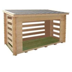 abri b ches bois blooma metso castorama. Black Bedroom Furniture Sets. Home Design Ideas