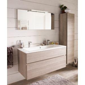 Ensemble de salle de bains Calao 120 cm clair plan vasque en résine ...