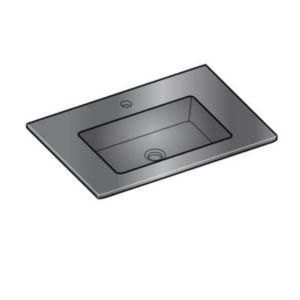 plan vasque verre gris cooke lewis meltem 65 cm castorama. Black Bedroom Furniture Sets. Home Design Ideas
