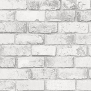 papier peint vinyle sur intiss colours arcelot brique blanc castorama. Black Bedroom Furniture Sets. Home Design Ideas