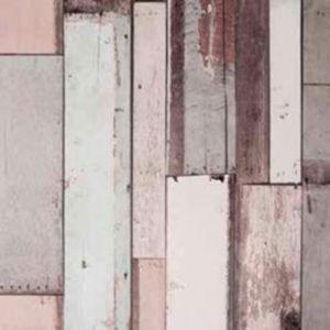 Papier Peint Vinyle Intissé Bois Gris Rosé Arcelot Castorama