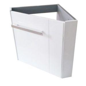 meuble lave mains d 39 angle blanc cooke lewis levyne. Black Bedroom Furniture Sets. Home Design Ideas
