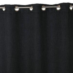 Rideau occultant COLOURS Barcelona noir 140 x 240 cm   Castorama