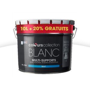 peinture multi supports colours collection blanc mat 10l. Black Bedroom Furniture Sets. Home Design Ideas