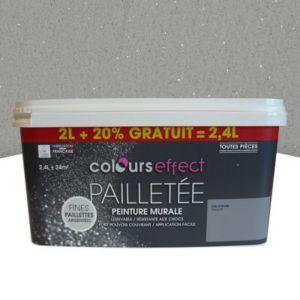 peinture effet paillettes colours voile de lin mat 2l 20 gratuit castorama. Black Bedroom Furniture Sets. Home Design Ideas