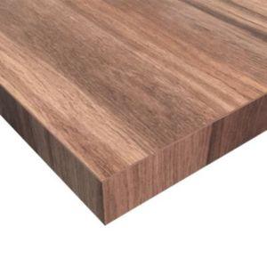 Plan de travail stratifié aspect bois décor noyer foncé hydrofuge ... 784a5b922f3