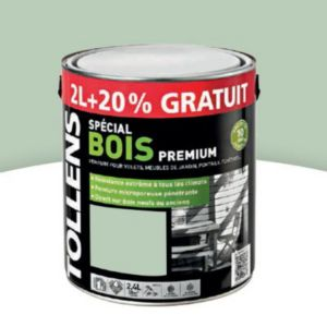 peinture bois ext rieur tollens vert olivier satin 2l 20 gratuit castorama. Black Bedroom Furniture Sets. Home Design Ideas