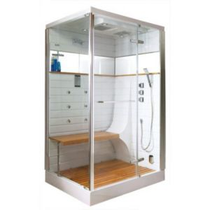 cabine de douche hammam gelco osaka 130 x 100 cm castorama. Black Bedroom Furniture Sets. Home Design Ideas