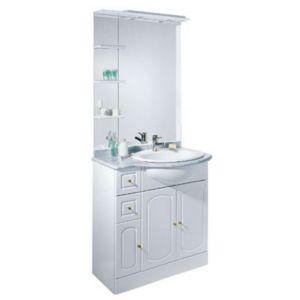 ensemble de salle de bains marbre blanc brillant castorama rimini 80 cm castorama. Black Bedroom Furniture Sets. Home Design Ideas
