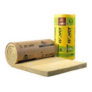 Panneau laine de verre isover gr32 kraft 1 2 x 2 7 m p for Laine de verre gr32 120mm prix