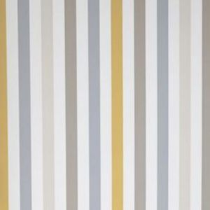 Papier peint vinyle Rayure jaune gris beige   Castorama