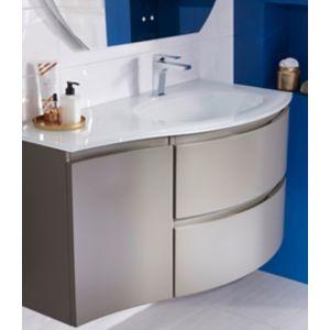 Ensemble de salle de bains Vague taupe 104 cm meuble sous-vasque + ...