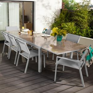 Lot table de jardin Verena + 4 chaises de jardin + 2 fauteuils de jardin |  Castorama