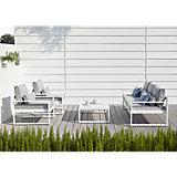 Salon de jardin solaire LED Blanc | Castorama