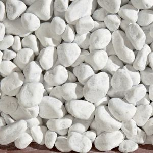Galet marbre blanc 25-40 Blooma 25kg | Castorama