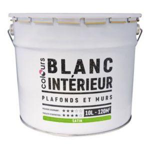 Peinture Plafond Satin peinture plafonds et murs colours blanc satin 10l   castorama
