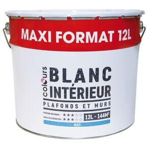 Peinture Intérieure Plafonds Et Murs Colours Blanc Mat 12 L Castorama