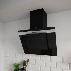 hotte inclin e noir cooke and lewis castorama. Black Bedroom Furniture Sets. Home Design Ideas