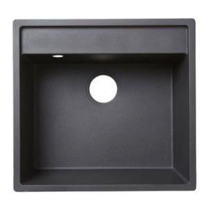 évier En Granit Noir 1 Bac à Encastrer Hirase Castorama