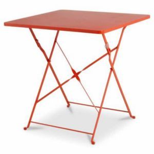 Table de jardin saba rouge vermillon pliante 70 x 70 cm - Tables pliantes castorama ...