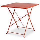 Table de jardin Saba rouge vermillon pliante 70 x 70 cm ...