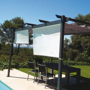 rideau brise soleil gris cm castorama. Black Bedroom Furniture Sets. Home Design Ideas