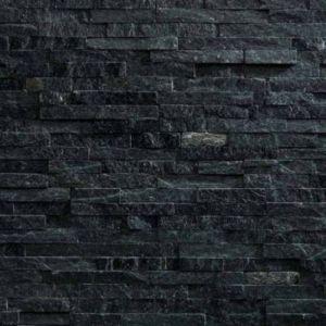 Plaquette de parement slimstone quarzite noir vendue au for Plaquettes de parement castorama