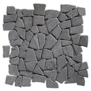 Mosaïque galets plats noir 32 x 32 Swabina Marbre | Castorama