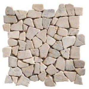 Mosaïque galets plats gris 32 x 32 SWABINA Marbre | Castorama