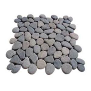 Galets ronds gris 30 x 30 cm swabina castorama for Galet decoratif gris