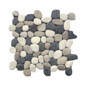 Galets ronds 3 couleurs 30 x 30 cm SWABINA | Castorama