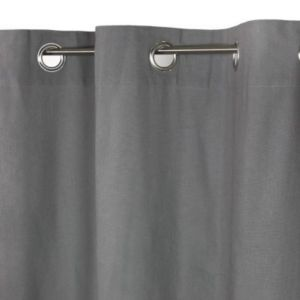 Rideau Zen XL gris foncé 300 x 250 cm   Castorama