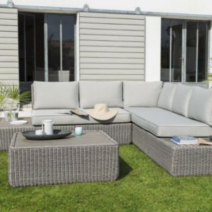 Angle de sofa effet rotin Rocha | Castorama