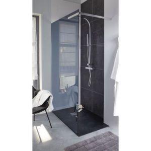 paroi de douche fixe cooke lewis kasari anthracite 120. Black Bedroom Furniture Sets. Home Design Ideas