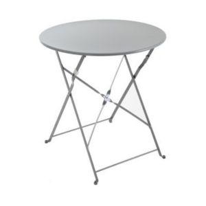 Table de jardin saba anthracite pliante ø70 cm | Castorama