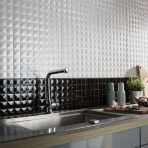 carrelage mur noir 25 x 40 cm step vendu au carton castorama. Black Bedroom Furniture Sets. Home Design Ideas