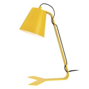 lampe de bureau colours clover jaune mat castorama. Black Bedroom Furniture Sets. Home Design Ideas