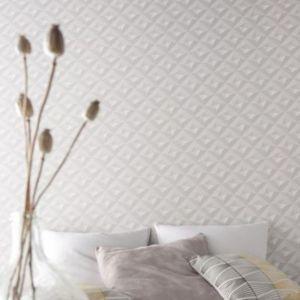 Papier Peint Intisse Virtual 3d Blanc Castorama