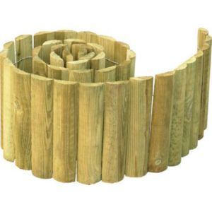 Bordure demi rondin bois stelmet 150 x cm castorama - Rondin de bois castorama ...