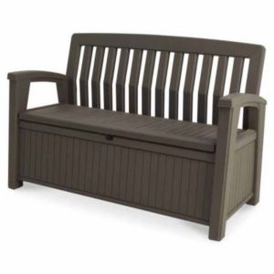 coffre banc de rangement plastique keter patio bench 227l. Black Bedroom Furniture Sets. Home Design Ideas