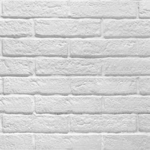 Carrelage Mur Blanc Effet Brique 6 X 25 Cm Brixton Vendu Au Carton