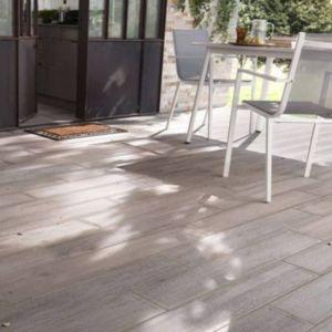 Carrelage Terrasse Effet Bois Gris 16 X 100 Cm Colours Sansio Vendu