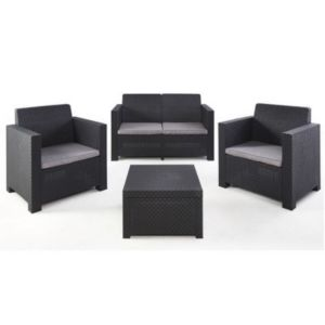 salon de jardin effet rotin collection diva evo castorama. Black Bedroom Furniture Sets. Home Design Ideas