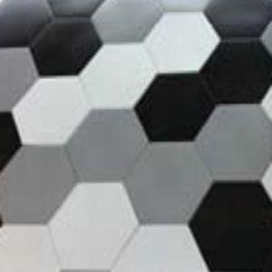 Carrelage Sol Et Mur Noir X Cm Kanya Vendu Au Carton - Carrelage hexagonal noir