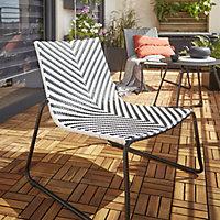 Salon de jardin, chaise et fauteuil de jardin, table de ...