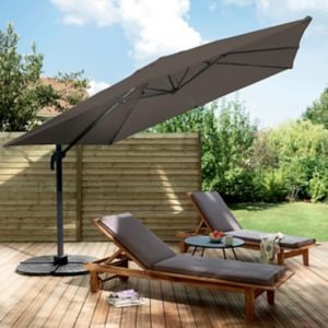 parasol rectangulaire deporte castorama