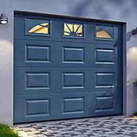 Porte Extérieure De Service Et Porte De Garage Castorama - Porte de garage sectionnelle avec porte exterieur pvc