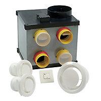 Vmc Simple Et Double Flux Aérateur Ventilation Castorama