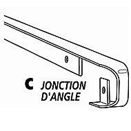 Profil d'angle aluminium 28 mm